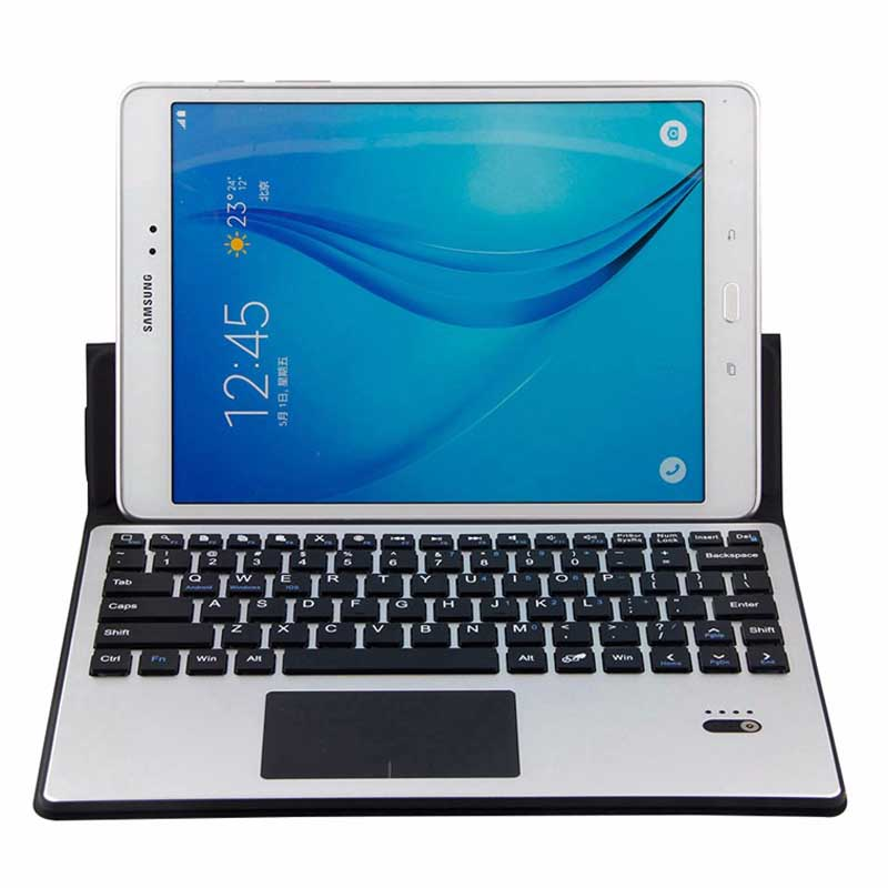 Aluminum Wireless Bluetooth Keyboard Case Cover Touchpad For Samsung Galaxy Tab S 10.5 T800 T805 9.7 S2 T810 T815 S3 T820 T825 for samsung galaxy tab s 10 5 inch tablet t800 t805 2 in 1 removable wireless bluetooth abs keyboard leather stand case cover