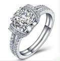 Marry Me Fabulous Briliant 14K Luxury Jewelry Fiancee Ring Semi Mount 1CT Solid 14K White Gold Diamond Ring Engagement