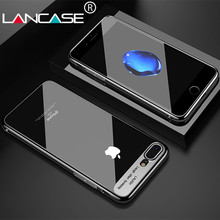 LANCASE Crystal Transparent PC Case For iPhone 8 Cover For iPhone 8 plus Case Plating Fashion Ultra Thin Hard Plastic Phone Capa