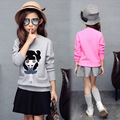 Baby toddler candy color cartoon printing sweater knit long-sleeve warm wool sweater spring autumn basic girl's sweater