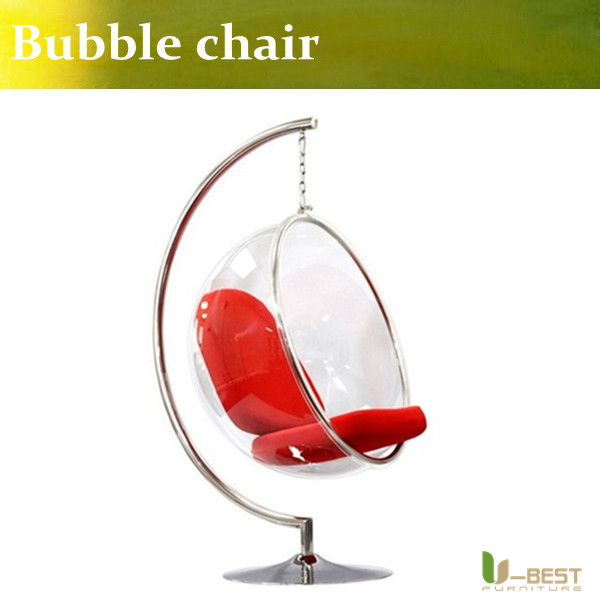 U-BEST Clear Acrylic Hanging Bubble Chair with Stand,Classic Designer Furniture Bubble chair by Eero Aarnio u best replica eero aarnio half dome chair with fibreglass and high quality pu leather