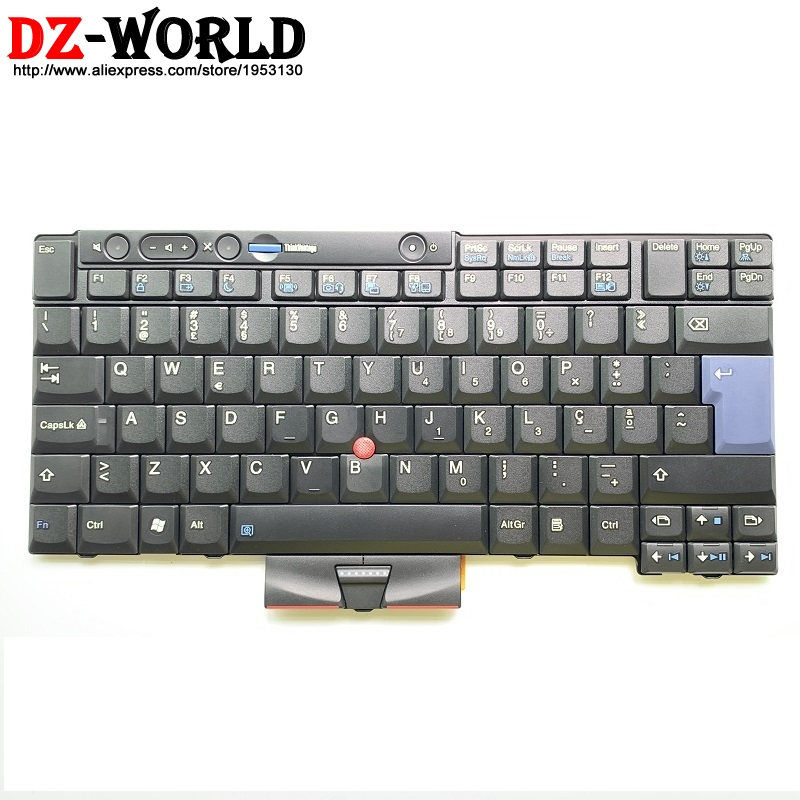 Portuguese Keyboard for Lenovo Thinkpad X220 X220i T410 T410S T420 T420S T510 T520 T520i W510 W520 Portugal Teclado 45N2233-in Replacement Keyboards from Computer & Office    1
