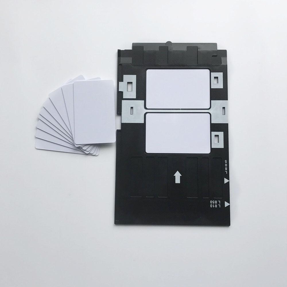 Inkjet Printing Stater Kit-100pcs Blank Inkjet PVC Card + 1pc ID Card Tray for Epson Inkjet Printers A50,T50,R280,L800,L805...