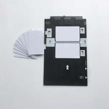 インクジェット印刷stater Kit 100pcsブランクインクジェットpvcカード + 1pc idカードトレイエプソンインクジェットプリンタ用A50 、t50 、R280 、L800 、L805...