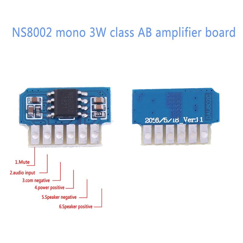 Высокая мощность DC 3V 3,7 V 5V класс AB моно 3W плата мини усилителя аудио модуль один канал Детали и аксессуары для приборов      АлиЭкспресс