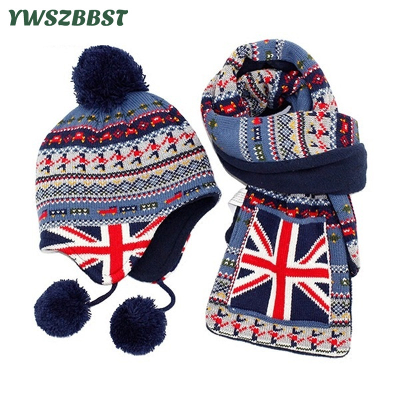Crochet Baby Hats for Boys Fashion Baby Hat Scarf set Children Winter Hats for Girls Warm Knitted Beanie Cap Scarf yjsfg house fashion beanie knitted hat unisex women ans men winter warm cap crochet knitting hats casual girls solid caps