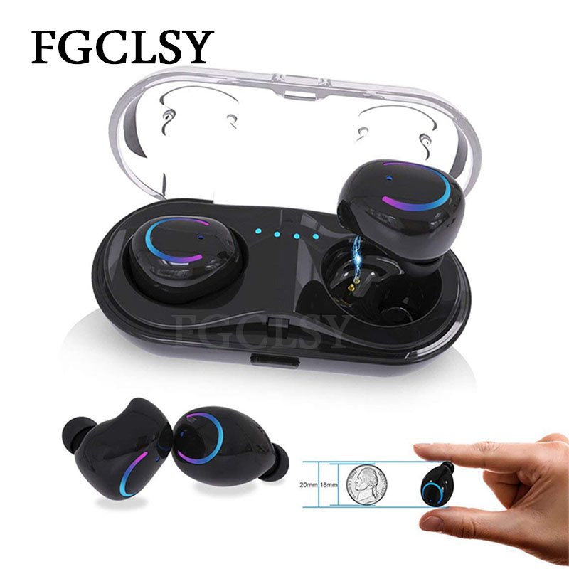 FGCLSY Q18 Mini Wireless Bluetooth Earphones In-Ear Stereo noise canceling wireless headset with Mic earbuds with Charging Case bluetooth