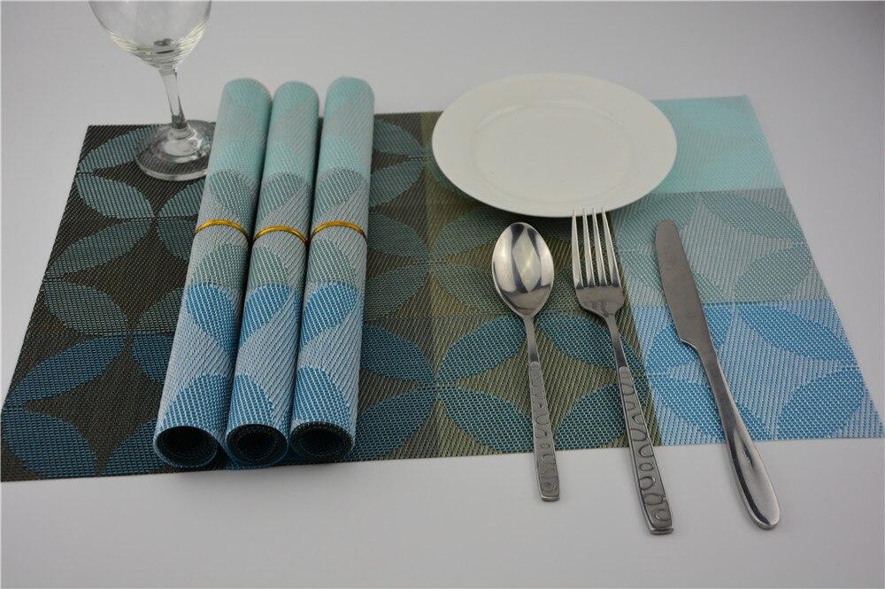 4pcs/lot pvc placemat dining table mats set de table bowl pad napkin dining table tray mat coasters kids table decor JI 0820