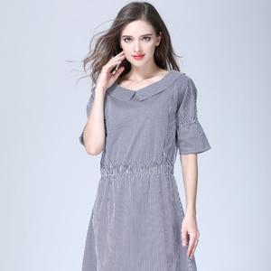 Image 2 - רגש אמהות פסים יולדות בגדי סיעוד הנקת הריון שמלות לנשים בהריון יולדות שמלת S M L XL