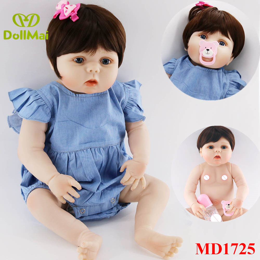 57cm Full Silicone Body Reborn Baby Doll Toy Like Real 22inch Newborn Girl Princess bebe doll reborn bathe Toy Kid Gift57cm Full Silicone Body Reborn Baby Doll Toy Like Real 22inch Newborn Girl Princess bebe doll reborn bathe Toy Kid Gift