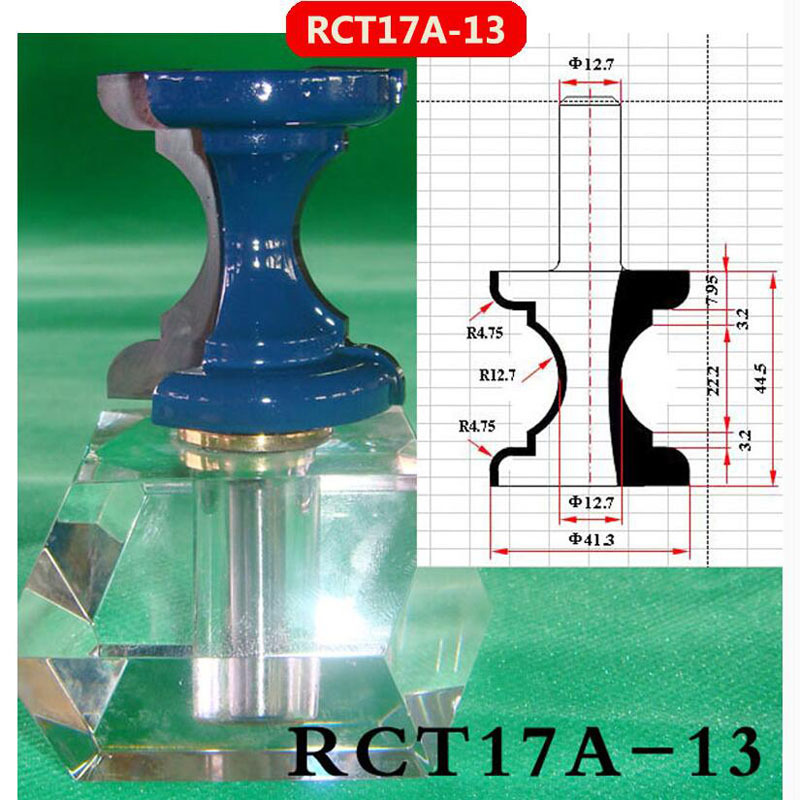 1pcs 41.3*44.5mm(CED*CEL),12.7mm Shank 3D Lace Woodworking Milling Cutter CNC Router Bit Engraving Machine RCT17A-13 1pcs 6 16mm chest door engraving machine milling knife wood cutter router bit knives 3d lace woodworking milling cutter no 4046