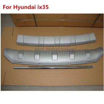 Fit for Hyundai ix35  Front&Rear Bumper Protector Sills Aluminum alloy External Car Accessories 3PCS/SET