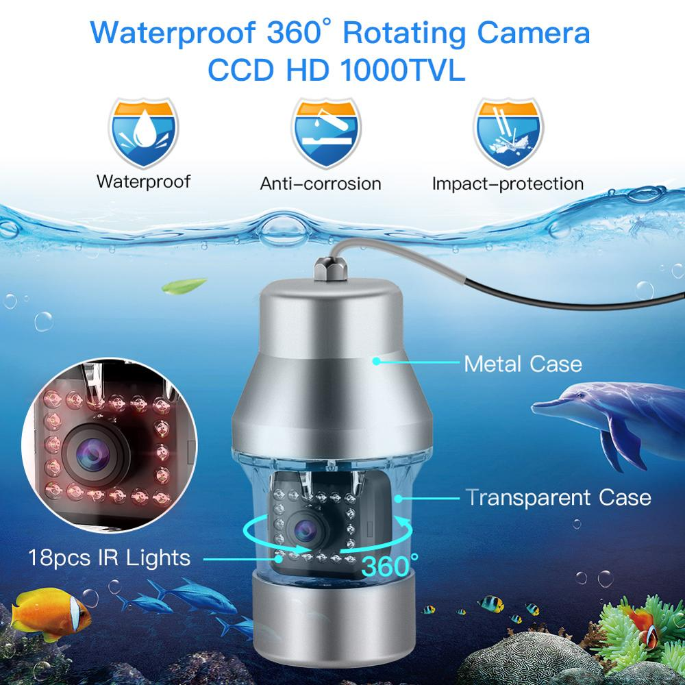 "EYOYO 9/"" 360° 30M 1000TVL Fish Finder W// Controller Underwater Fishing Camera"