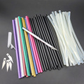 50PCS/Lot Non-Toxic 7mm X190mm Adhesive Craft Sticks Desinger Power Tool Hot Melt Glue Sticks Red Green Black Blue Golden Silver