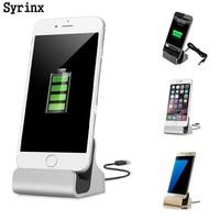 SYRINX-estación de carga rápida para iPhone 5, 5S, SE, X, 6, 6s, 7, 8 Plus, Micro tipo C