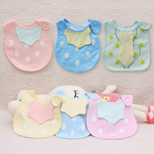 Lovely Cute Cartoon Pattern Toddler Baby Waterproof Saliva Towel Cotton Baby Boys Girls Bibs