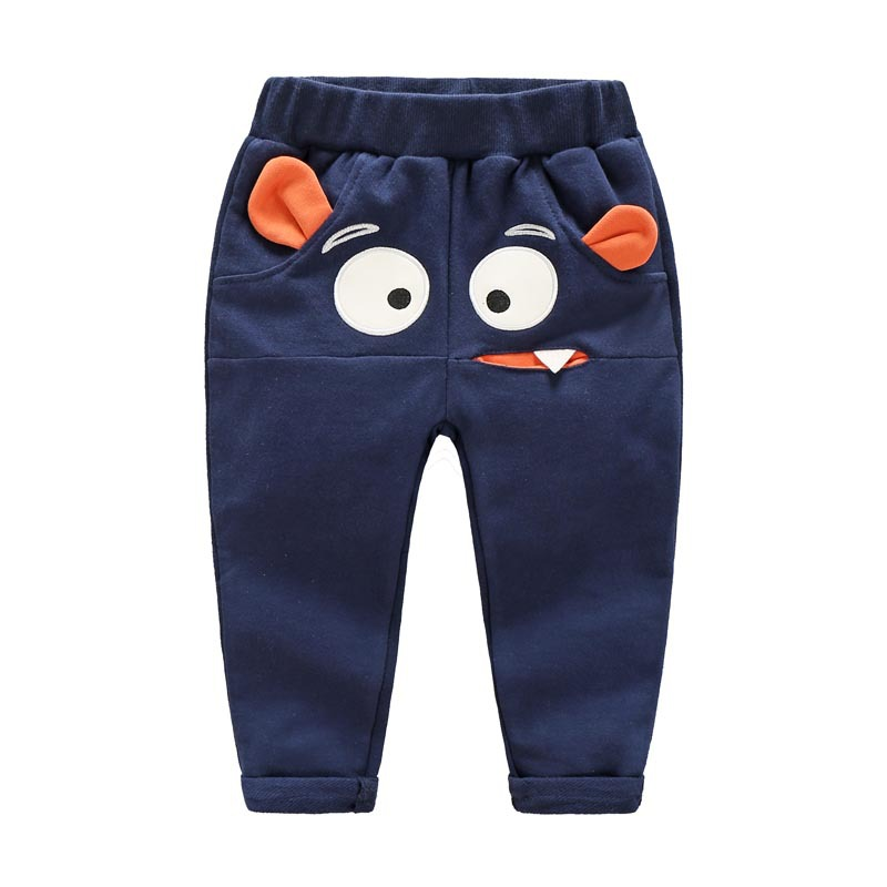 2017 New Boys Pants Casual Cotton Large Eye Pattern