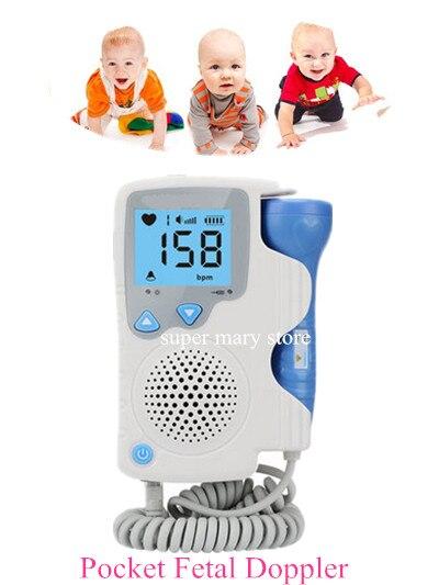 Blue-Pocket Fetal doppler SONOLINE LCD Screen Prenatal Heart Baby Heart Monitor 2MHz Probe bf530 probe sensor spare parts fetal doppler probe 2mhz use for bestman model bf530