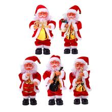 Christmas Electric Dancing Music Santa Claus Xmas Plastic Doll Party Christmas Gift for Kids Children Home Christmas Decoration
