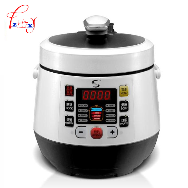 2L Electric electric pressure cooker timing pressure cooker reservation rice cooker travel stew pot 110V 220V EU US plug 110v 220v dual voltage travel cooker portable mini electric rice cooking machine hotel student multi stainless steel cookers