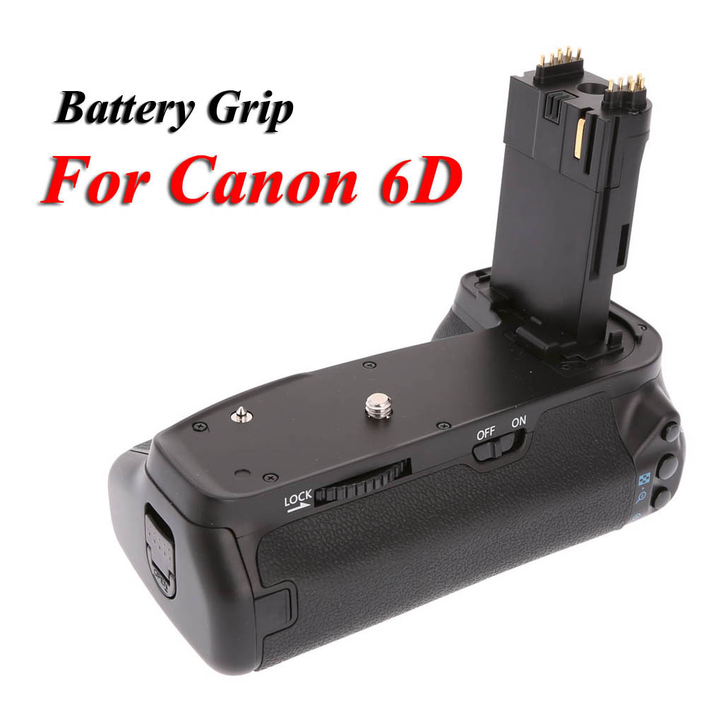 MK-6D Vertical Battery Grip Multi-Power Battery Pack Holder for Canon EOS 6D DSLR Camera Replace as BG-E13 BGE13 professional vertical battery grip pack holder for canon 6d camera as bg e13 2pcs lp e6 battery 2pcs microfiber cleaning cloth