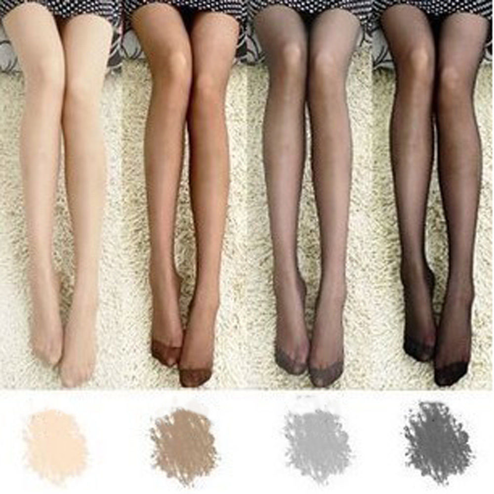 Women Sheer Transparent Tights Pantyhose Stockings Hosiery One Size 4 Colors SCKLH0009