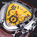 Luxury brand Leather Band automatic Mechanical Calendar Watches Mens Wrist Watches Jaragar military watch men waterproof