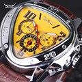 Marca de luxo Pulseira de Couro Calendário Mecânico automático Relógios Mens Relógios de Pulso Jaragar militar homens relógio à prova d' água