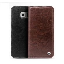 For Samsung Galaxy S6 S6 Edge S6 Edge Plus Genuine Leather Ultra Thin Magnet Flip Cover