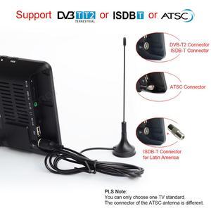Image 2 - LEADSTAR D7 تلفزيون محمول DVB T2 ATSC ISDB T tdt 7 بوصة الرقمية التناظرية سيارة صغيرة صغيرة التلفزيون التلفزيون دعم USB TF MP4 H.265 AC3