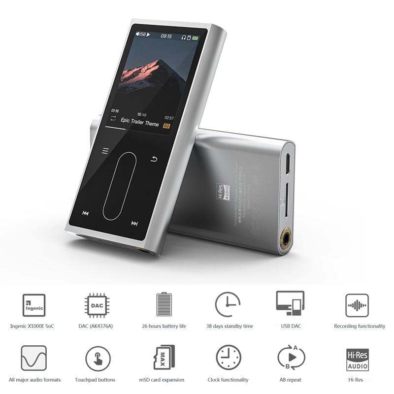 FiiO M3K boîtier en métal Sport Audio Mini écran Lcd HiFi lecteur Mp3 musique Audio Mp 3 avec recul vocal pour étudiant, enfants - 4