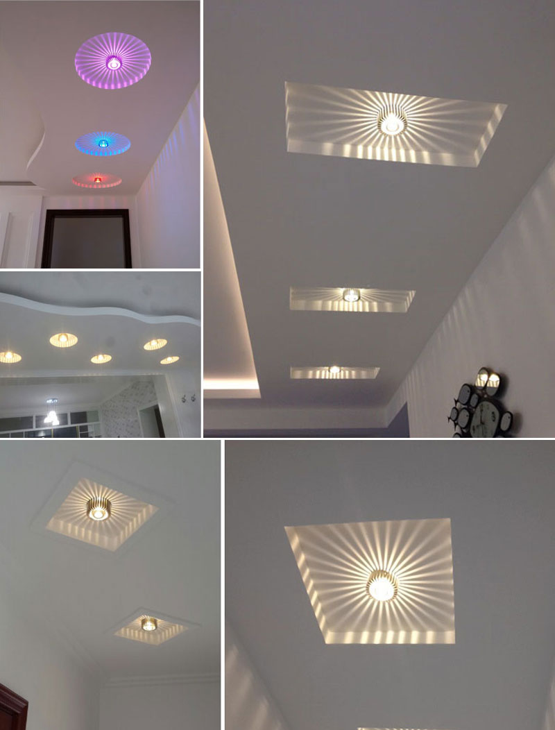 Modern LED Ceiling Light 3W Wall Sconce For Hotel KTV Art Gallery Decoration Balcony Lamp Porch Light Corridors Light Fixture (24)