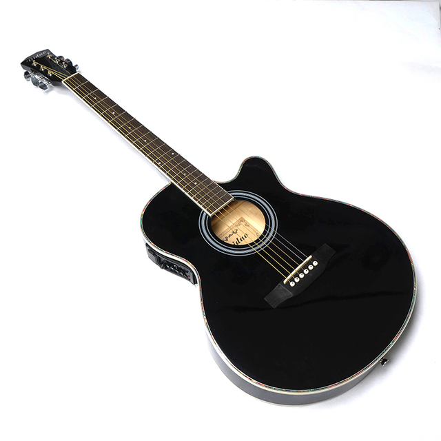 guitar acoustic electric steel string balladry folk pop thin body flattop 40 inch guitarra 6. Black Bedroom Furniture Sets. Home Design Ideas