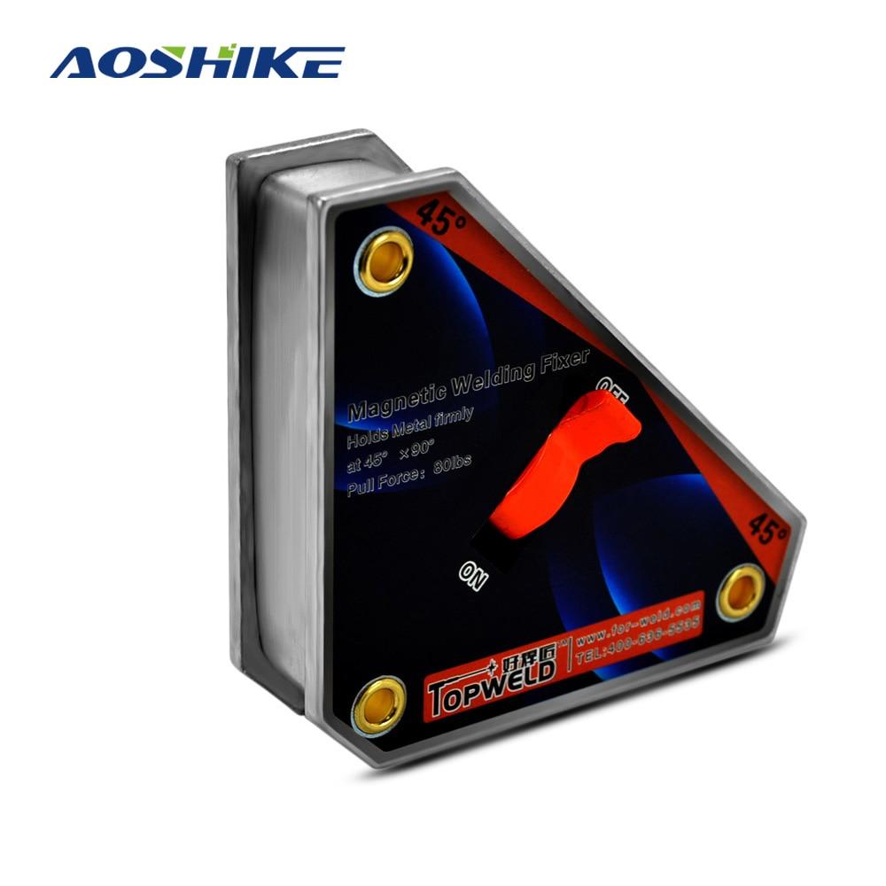 AOSHIKE Multi-angle De Soudage Aimant Avec Interrupteur OnOff Forte Néodyme Pince Magnétique Fixer Titulaire De Levage Positionneur CLK-45 36 KG
