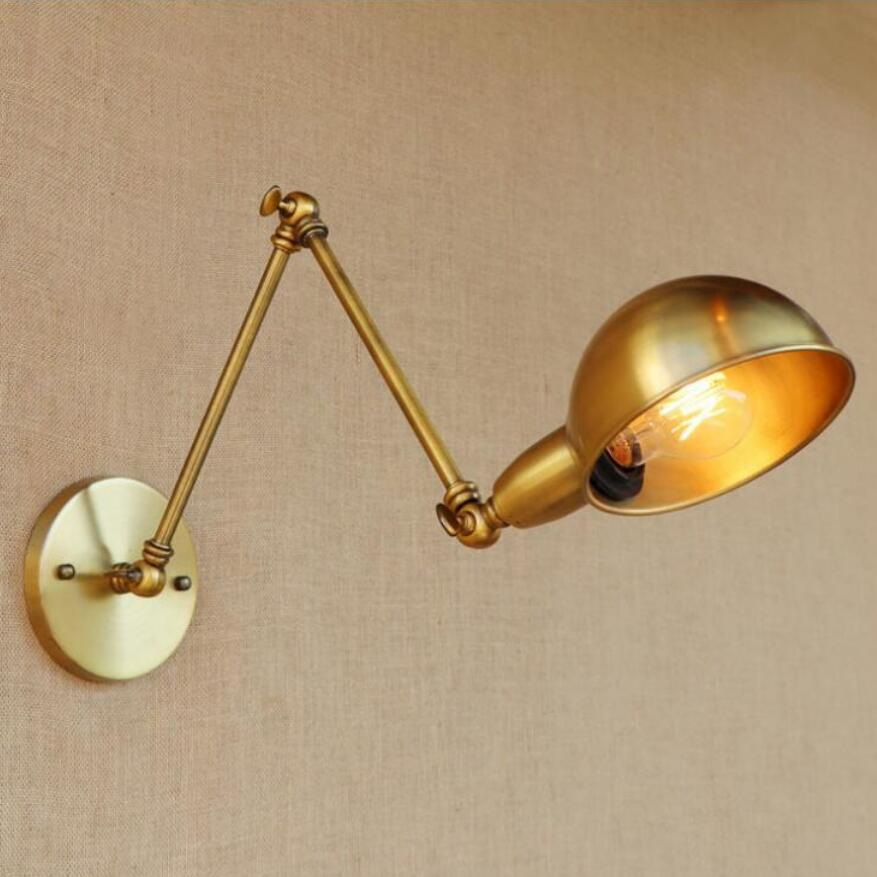 Double Edison Bulb Lamp: Modern Golden Retro Double Arm Wall Lamps Led Lamps Wall