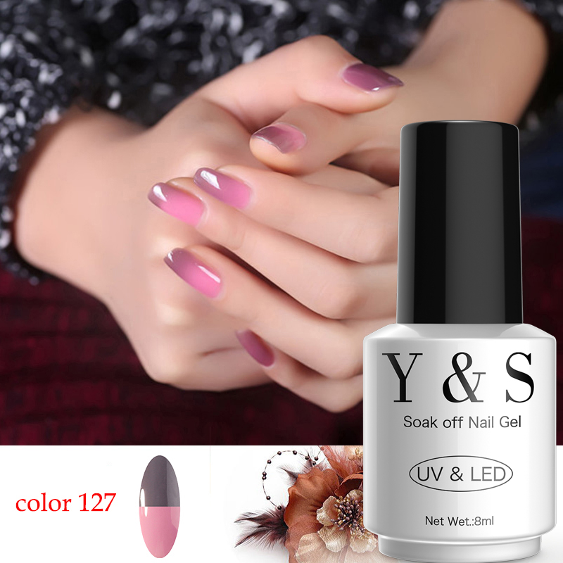 YAOSHUN 1pcs Temperature Change Nail Gel Polish 8ml UV Soak Off GEL 8ml Hot Sale DIY Nail Art Salon Perfect Summer