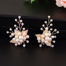 Buy Shoe Clip Gold Leaf Alloy Wedding Shoes High Heel Decoration Women Charms Luxury Fashion Shoes Ornament DIY Shoe Accessories directly from merchant!