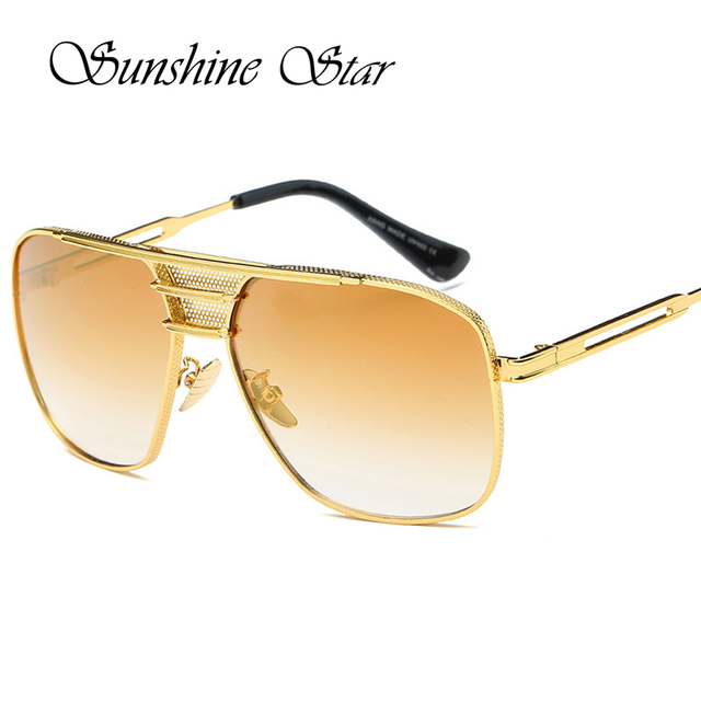 9fe6e84cd82 Pop Age Brand Designer Oversized Square Women Sunglasses Metal frame  Fashion Men Sun Glasses Vintage Oculos de sol 400UV