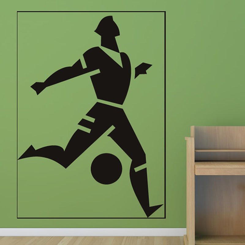 top selling football player frames wall stickers boys bedroom vinyl removable home decor free shipping