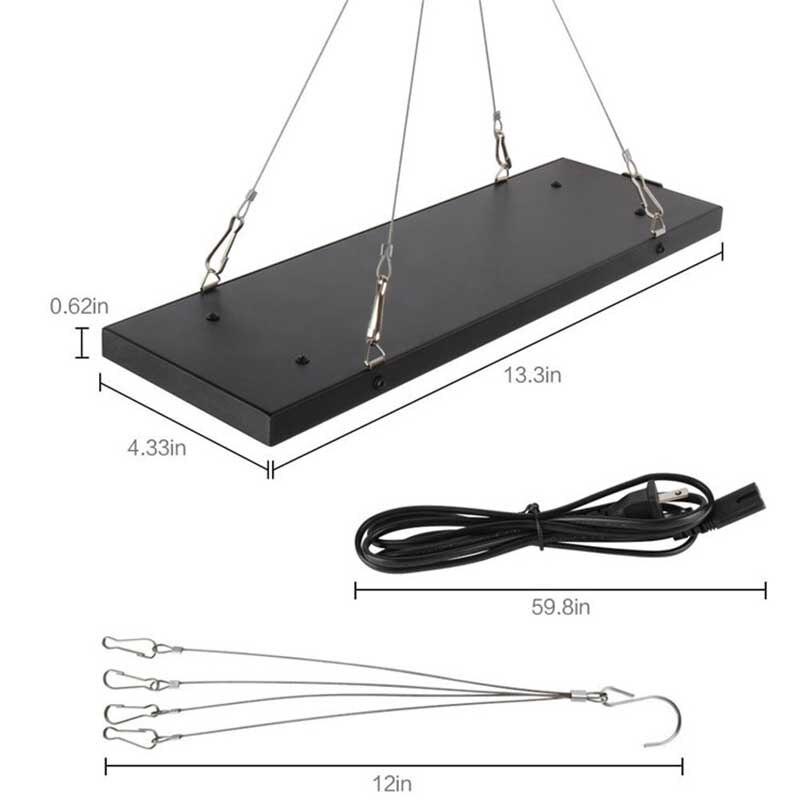 40 Вт Светодиодный светильник полного спектра для выращивания растений Лампа для гидропоники