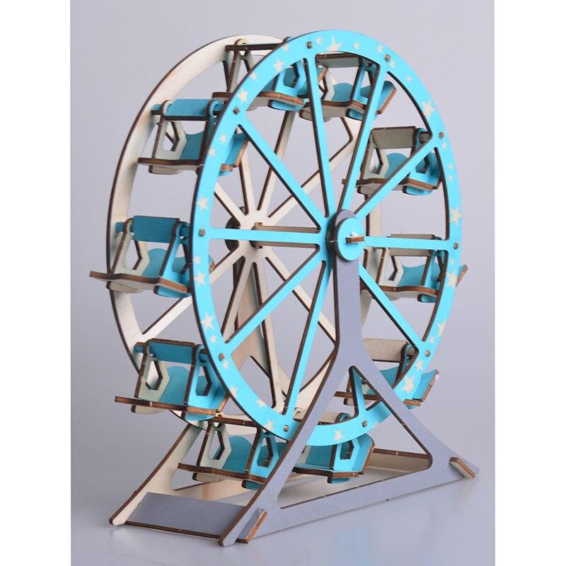 Robotime DIY 3D Laser Cutting Wooden Ferris Wheel Puzzle Educational Toys for Children Kids Model Building Kits Popular Toy