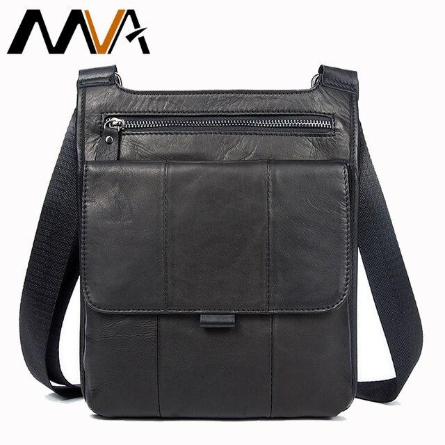 370facf20995 МVА сумка мужская мужские сумки из натуральной кожи Мода Мужская Сумка  Через Плечо сумка мужская кожаная