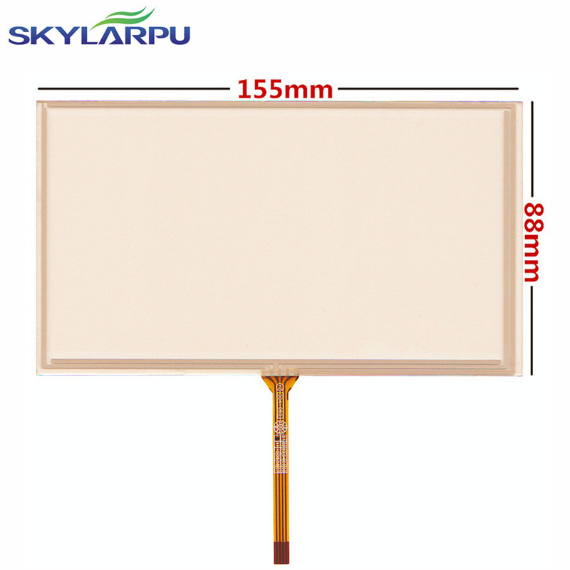 skylarpu New 6.2 inch 155*88mm 4 wire Resistive Touch Screen for 155mm*88mm GPS Touch screen digitizer panel Repair replacement zhiyusun crd510 rcd 510 rcd510 vw touch screen digitizer repair replacement for car rcd510 c065gw03 v0 v1 155 91