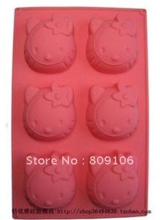 Wholesale ,Silicone Hello kitty Cake Muffin Mold /Soap Mould/Cupcake Pan  ,free shipping