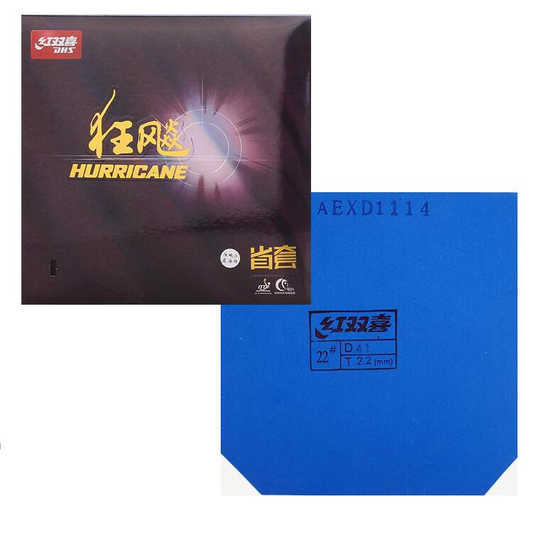 DHS Original BLUE SPONGE Provincial Hurricane 3 Table Tennis Rubber Pimples In With Sponge Tenis De