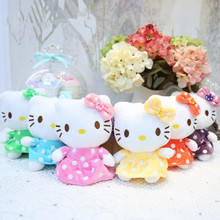 CXZYKING 6PCS Kawaii Kids Hello Kitty Plush Toys Soft KT Cat Stuffed Dolls Girls Toys Gift Mini Animal Dolls