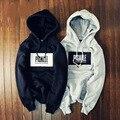 2015 Marca o Inverno Cloting Alta Rua PIGALLE Hoodies 3D Bordado Caixa de Forro de Lã Camisola Com Capuz Sportswear Longo Tee