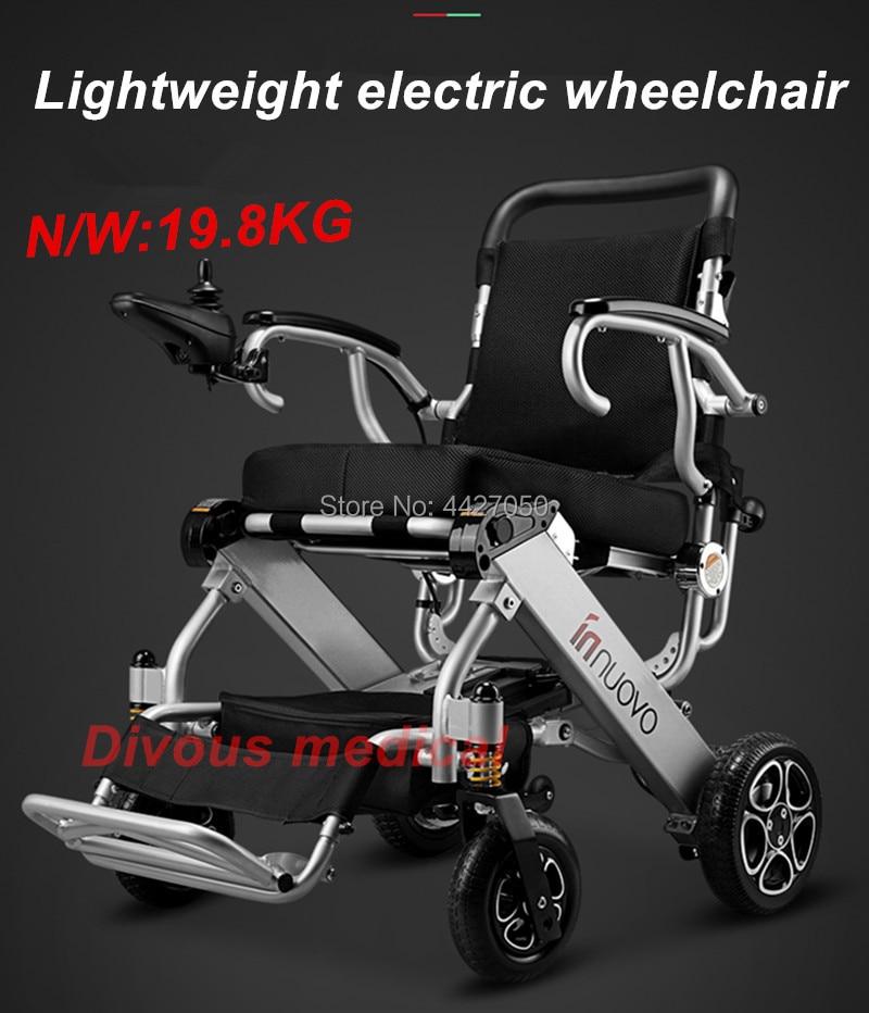 Léger protable net poids 19.8 kg 2 pcs batteries 2 pcs moteurs électrique fauteuil roulant