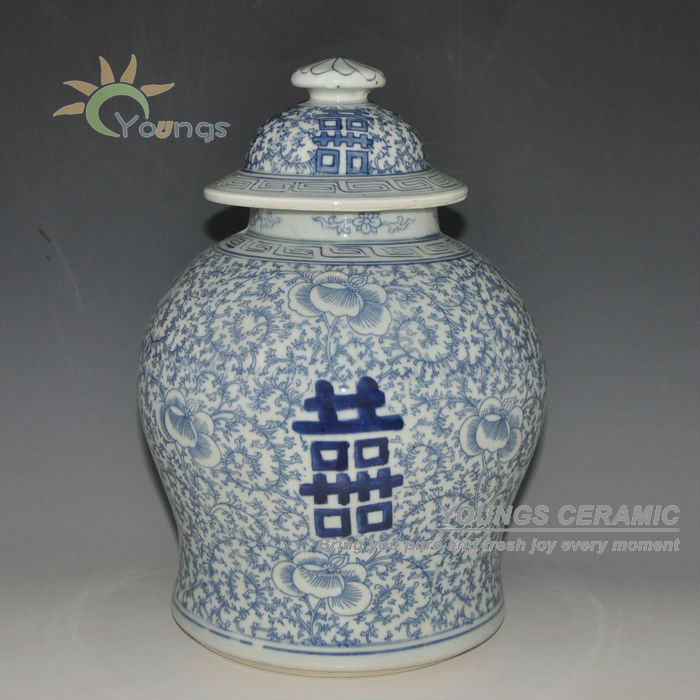 Retail Chinese Hand Painted Blue And White Ceramic Porcelain Jars - Home Decor - Photo 2