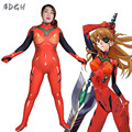 Asuka Langley Soryu Cosplay Costume Anime Neon Genesis Evangelion Fullbody Zentai Suit Sexy Women Jumpsuit Long Sleeve